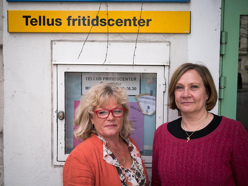 Annica Friberg och Elisabeth Melén driver Tellus Fritidscenter som bland många aktiviteter erbjuder gratis datakunskap för äldre.