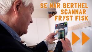Se när Berthel scannar fryst fisk