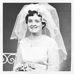 Ulla Jansson som brud 1962